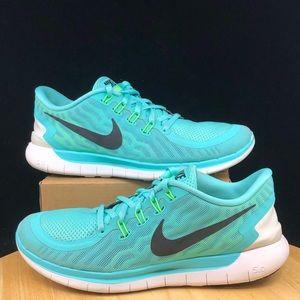 Nike - Free 5.0 Turquoise Black Running Shoes